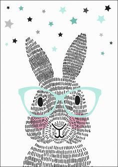 Art Room Britt: Rabbit Illustration Using Line Rabbit Illustration, Illustration Art, Lapin Art, Illustration Mignonne, Bunny Art, Art Education, Art For Kids, Art Projects, Creations