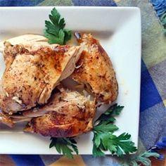 Slow Cooker Roast Chicken & Potatoes