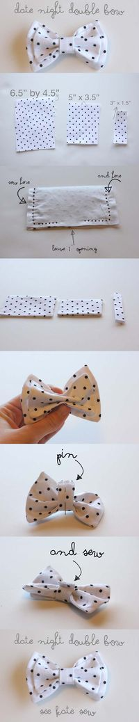 Simple Fabric Crafts Hair Bows - How to make a double weave . Simple Fabric Crafts Hair Bows - How to make a double weave . - Simple Fabric Crafts Hair Bows – How To Make A Double Weave… – craft – el - Fabric Crafts, Sewing Crafts, Sewing Projects, Diy Headband, Baby Headbands, Fabric Bows, Fabric Flowers, Ribbon Bows, Fabric Bow Tutorial
