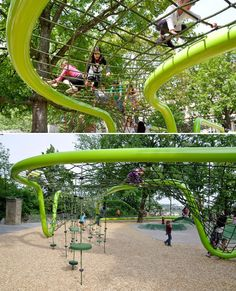 Sculptural playground in Schulberg, Germany. Designed by ANNABAU.