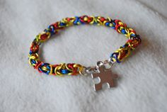 Autism Awareness Multicolor Chainmaille by TheShiveringForest