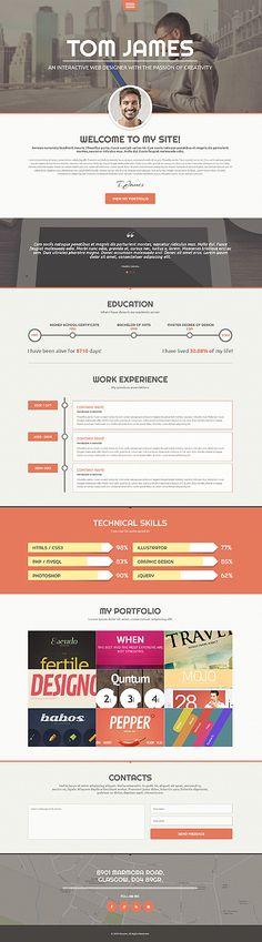 Template 49159 - Responsive WordPress Theme for Designers