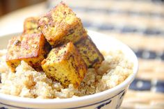 This crispy Caribbean tofu has the perfect summer flavours and goes great served with coconut quinoa for a light, healthy meal.