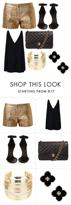 """Night Club Outfit for today"" by itssophiahm ❤ liked on Polyvore featuring Lanvin, STELLA McCARTNEY, Isabel Marant, Chanel, WithChic and Tory Burch"