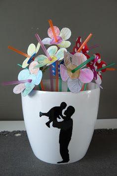 Gelukkige vaderdag ... met een leuke DIY (hilde@home) China Painting, Popsicle Sticks, Inspirational Gifts, Sharpie, Crafts For Kids, Card Making, Party, How To Make, Mugs