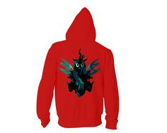 #‎QueenChrysalis‬ design for Hoodies & more available for 3 colors. Shop now at unamee.com! ‪#‎MLP‬ ‪#‎Ponies‬
