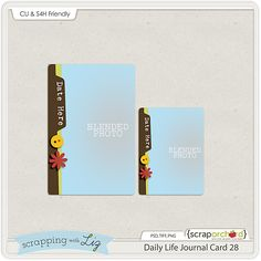 Scrapbooking TammyTags -- TT - Designer - Scrapping with Liz, TT- Item - Template, TT - Item - Journal Card