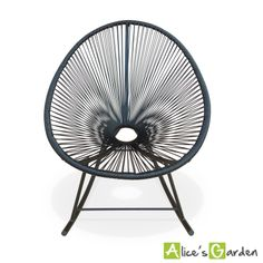 Acapulco Rocking noir http://www.alicesgarden.fr/mobilier-jardin/chaise/fauteuils-huevo-rocking?selected=711