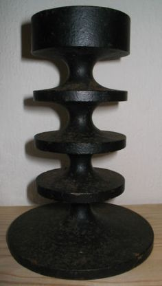 LARGE VINTAGE ROBERT WELCH CAST IRON HOBART CANDLESTICK 1960s in Antiques, Periods/Styles, Modernist | eBay