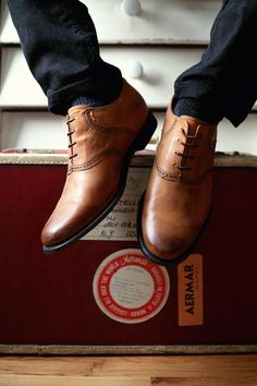 Great shoes -- nice variation on the brogue look