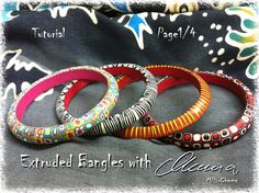 A little tutorial on how to make a simple polymer clay bangle using extruder.