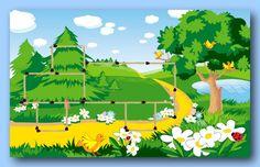 "Photo from album ""Detskie-Fony"" on Yandex. Kids Background, Forest Background, Landscape Background, Vector Background, Cute Backgrounds, Wallpaper Backgrounds, Landscape Clipart, Natural Park, Cartoon Faces"
