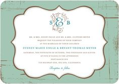 Signature White Wedding Invitations Charming Elegance