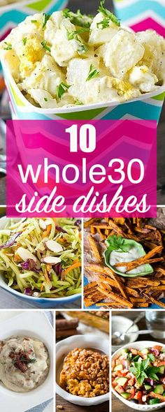 Whole30 side dishes that will get you through your Whole30 challenge. From sweet potatoes to salads, these are Whole30 recipes for the family. via @tastesoflizzyt