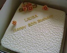 90th birthday cake | 90TH BIRTHDAY (2) - Cake Decorating Community - Cakes We Bake 90th Birthday Cakes, Fathers Day, Cake Decorating, Birthdays, Community, Baking, Cake Ideas, Desserts, Celebration