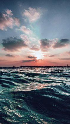 SUNSET SEA SKY OCEAN SUMMER BLUE WATER NATURE WALLPAPER HD IPHONE