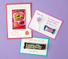 Show mom you're sweet on her with these candy cards for Mother's Day.