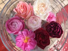 Centrotavola con rose profumate