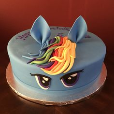 My Little Pony, Rainbow Dash Birthday Cake Rainbow Dash Birthday, My Little Pony Birthday Party, Birthday Cakes, Desserts, Tailgate Desserts, Deserts, Birthday Cake, Postres, Dessert