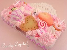 MADE 2 ORDER Handcrafted Fairy Tale Decoden Deco Art Kawaii Kitsch Phone Case Pink Whip Cream & Charms - Unique Deco Style. £32.99, via Etsy.
