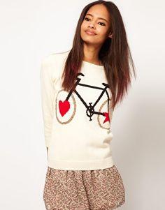 Suéter con estampado de bicicleta de ASOS