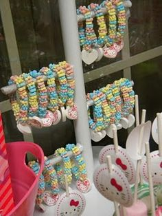display candy bracelets, necklaces and ring pops