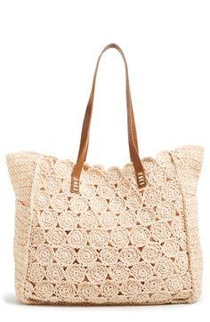 crochet tote / straw studios