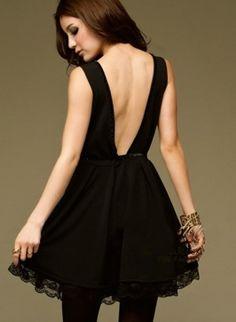 Vestido negro escote espalda...