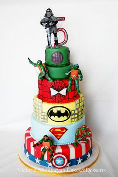 Superheroes 5th Birthday Cake - Cake by Victoria  Mkhitaryan Cakes&Desserts