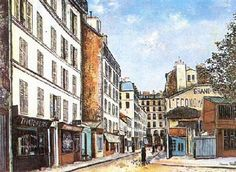 Street by Maurice Utrillo. Post-Impressionism. cityscape