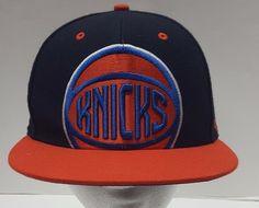 690f2a13a7a90 47 Brand NBA New York Knicks Snapback Hat Size Youth Black Orange Knicks  Logo  47