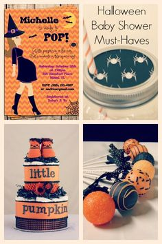 Halloween Baby Shower Items (Mine would be an adoption shower, so the invitations would need to be done differently)