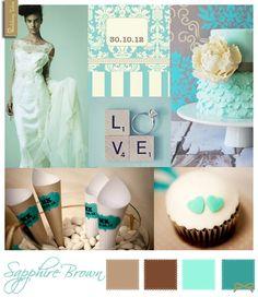 Wedding Moodboard | Sapphire Brown