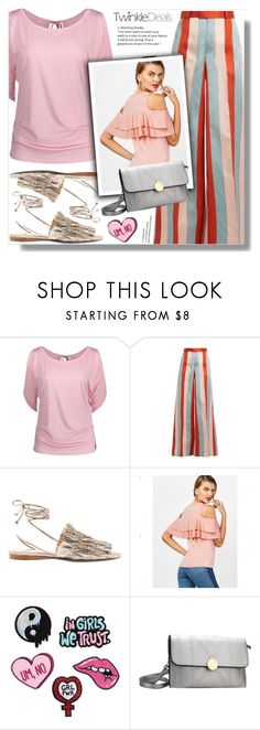 """""""stripes"""" by shadejuric ❤ liked on Polyvore featuring RED Valentino and Mercedes Castillo"""