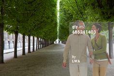 Stock Photo : Couple walking in Paris
