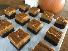 Chocolate Shortbread Pumpkin Bars