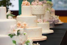Torte nuziali, wedding cakes ricoperte e decorate in pasta di zucchero e giaccia reale, realizzate come progetto finale del corso di Pasticceria e Cake Design.