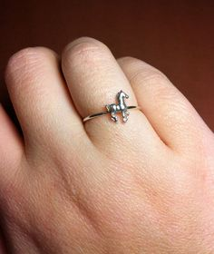Horse Ring Sterling Silver by Mineology on Etsy, $23.50