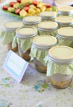 Cupcakes in a jar - great favor