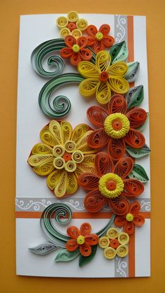 A beautiful handmade quilled card with flowers, Perfect greeting card for various occasions like Birthday, Mothers Day, Congratulations or a simple Thank You.  ♦ Size of card: 105mm x 210 mm.  ♦ Has blank white liner inside for your own sentiments. Suitable for any special occasion.  ♦ The card is packaged carefully to ensure a safe delivery a 2 protective cellophane sleeve and the envelope mail from Kraft paper with air bubble film.  ♦ Each card is made individually so the card you receive…