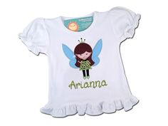Girl's Spearmint Christmas Fairy Top by SunbeamRoad on Etsy