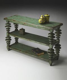 Look what I found on #zulily! Green Moss Console Table #zulilyfinds