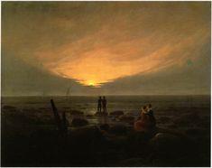 """Caspar David Friedrich """"Mondaufgang am Meer"""", um 1821"""