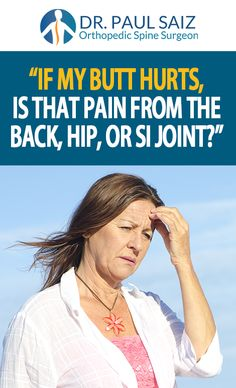 Another blog post written just for you! This week it's about the relation of butt pain to back, hip, and SI joint issues.