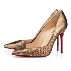 Christian Louboutin Completa 100mm Pumps Gold