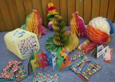 14 VINTAGE 1950/60S PAPER CHRISTMAS DECORATIONS~GARLANDS~BELLS~LANTERN~ETC