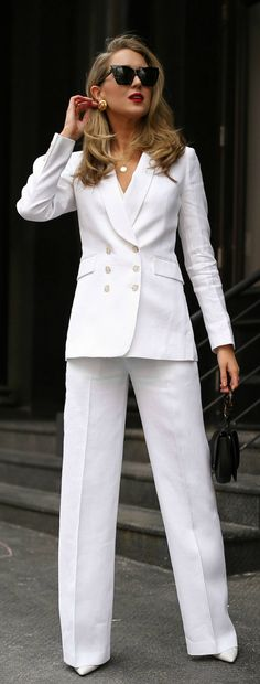af49abc6ede SPRING MUST-HAVES // coordinating white linen double breasted suit blazer  jacket and white