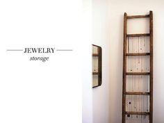 DIY jewelry storage!