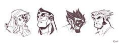 X-Men Sketches by frogbillgo.deviantart.com