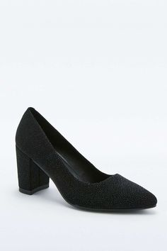 Vagabond Saida Black Suede Court Shoes